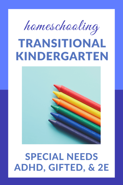 Transitional Kindergarten: Homeschooling Our Little Enigma   While homeschooling Little Brother is sometimes confusing and frustrating, it's also very exciting. I'm looking forward to enjoying this transitional kindergarten year! #ADHD #gifted #2E #homeschooling #specialneeds #preschool #kindergarten