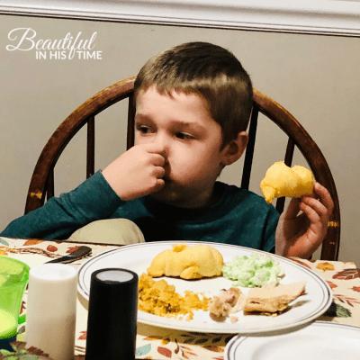 grumpy boy picky eater