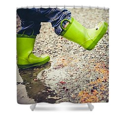 Spring Shower Curtain - Good Rainy Day
