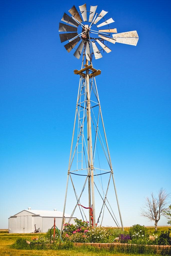Old windmill on a Montana farm