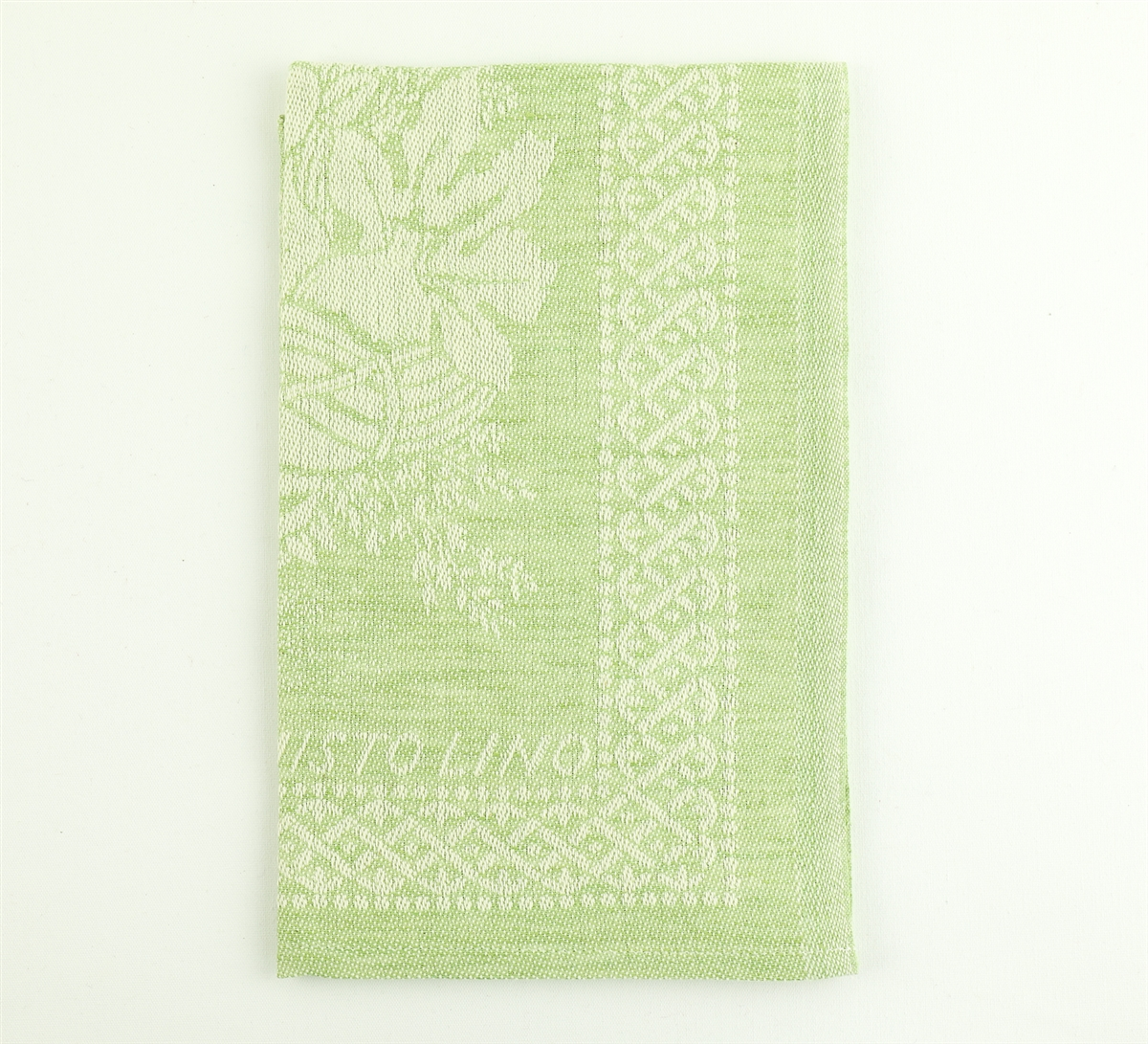 green kitchen towels tall table with bench tessitura pardi cesto basket misto linen italian