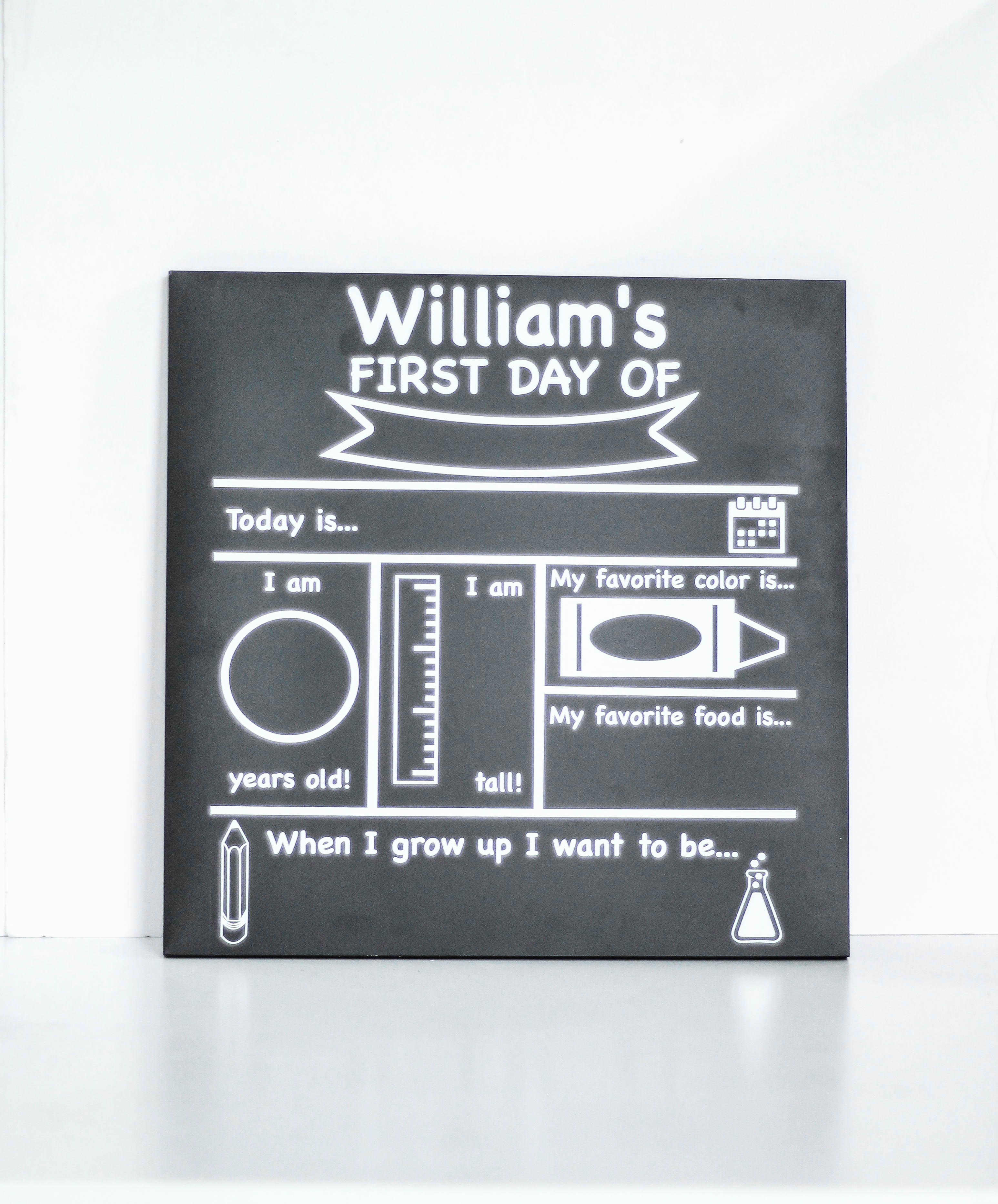 photograph about Free Printable Chalkboard Signs titled Initial Working day of College or university Chalkboard Indicator with Cost-free Printable