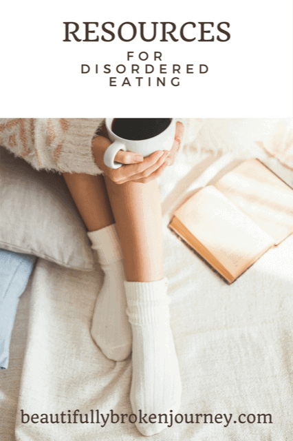 There are many resources out there for someone with disordered eating.  I'm sharing a few that helped me, along with therapy.