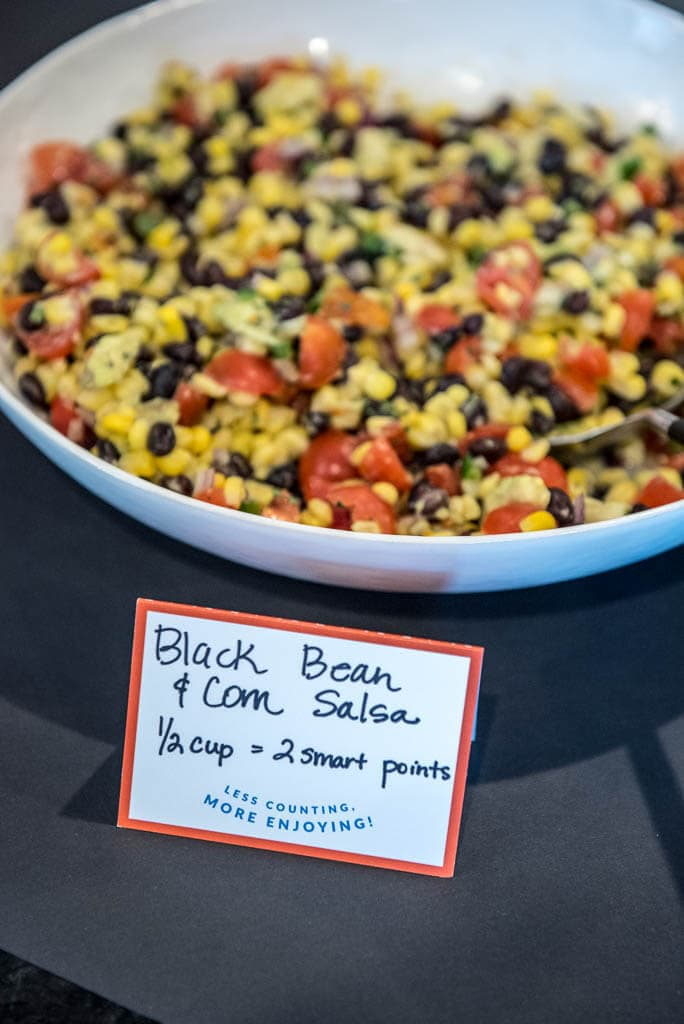 Corn and black bean salsa bowl
