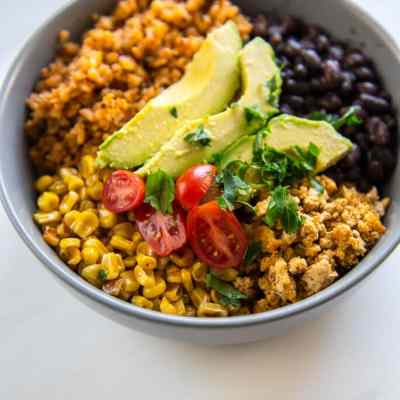 Turkey Taco Bowls with Cauliflower Rice