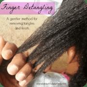 finger detangling preserve ends