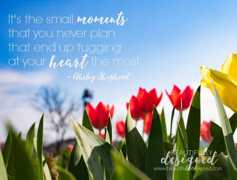 It's the small moments  that you never plan  that end up tugging  at your heart the most.