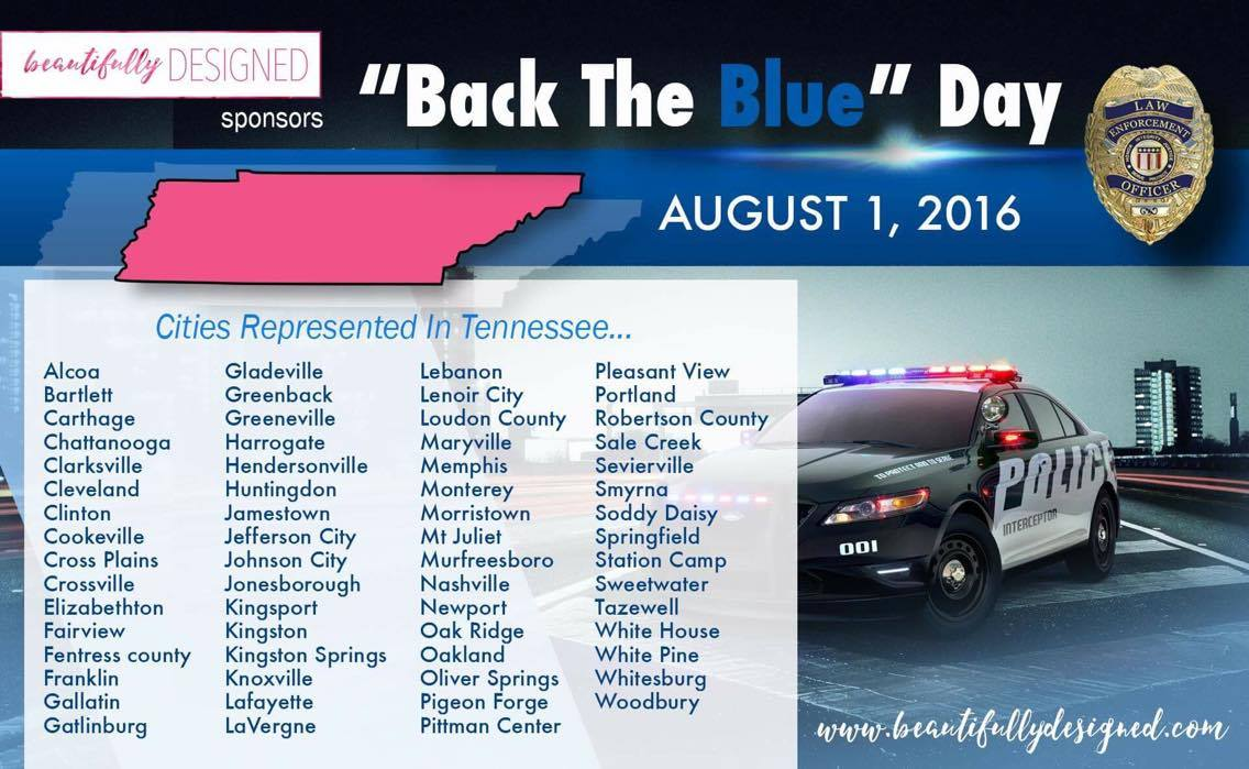 Back the blue Tennessee