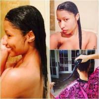 Nicki Minaj shows off her Natural Hair!