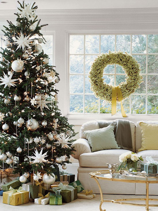 silver white christmas trees - Silver And White Christmas Tree