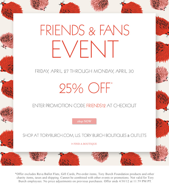 81ee0c7f19b Tory Burch...Friends and Family Sale
