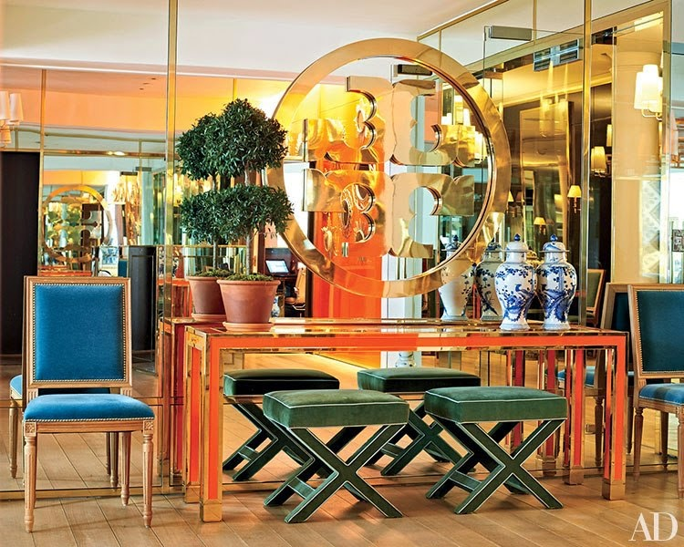 One thing I love in design, is walking into a Tory Burch store. The  lighting, furniture and accessories are bright, comfortable and super  stylish just like ...