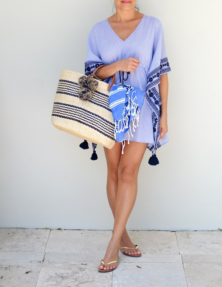 Tory Burch embroidered caftan   Beautifully Seaside