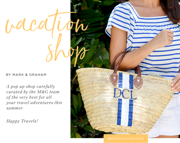 Mark & Graham Vacation Shop straw beach bags