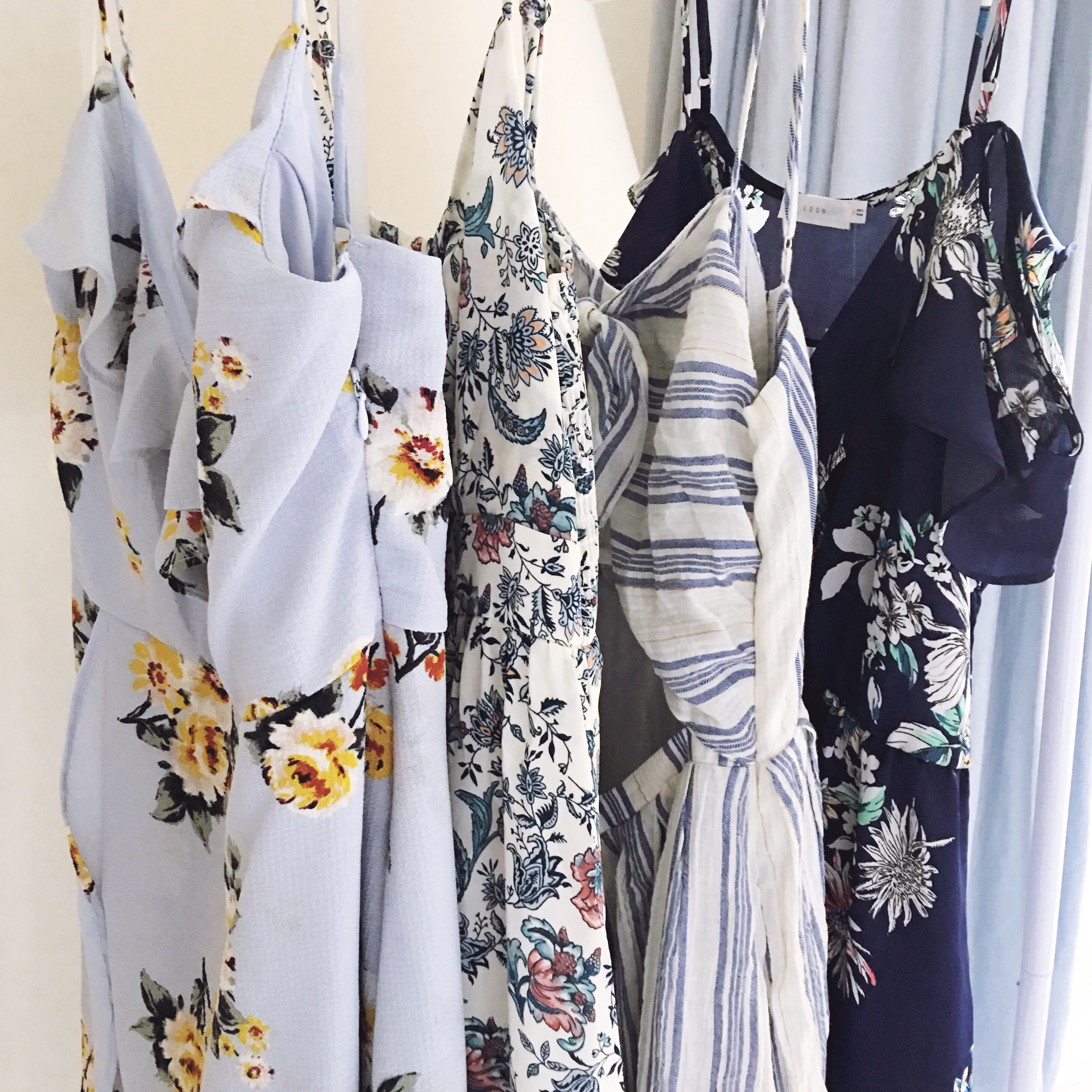 summer floral dresses and rompers
