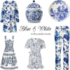 blue and white styles