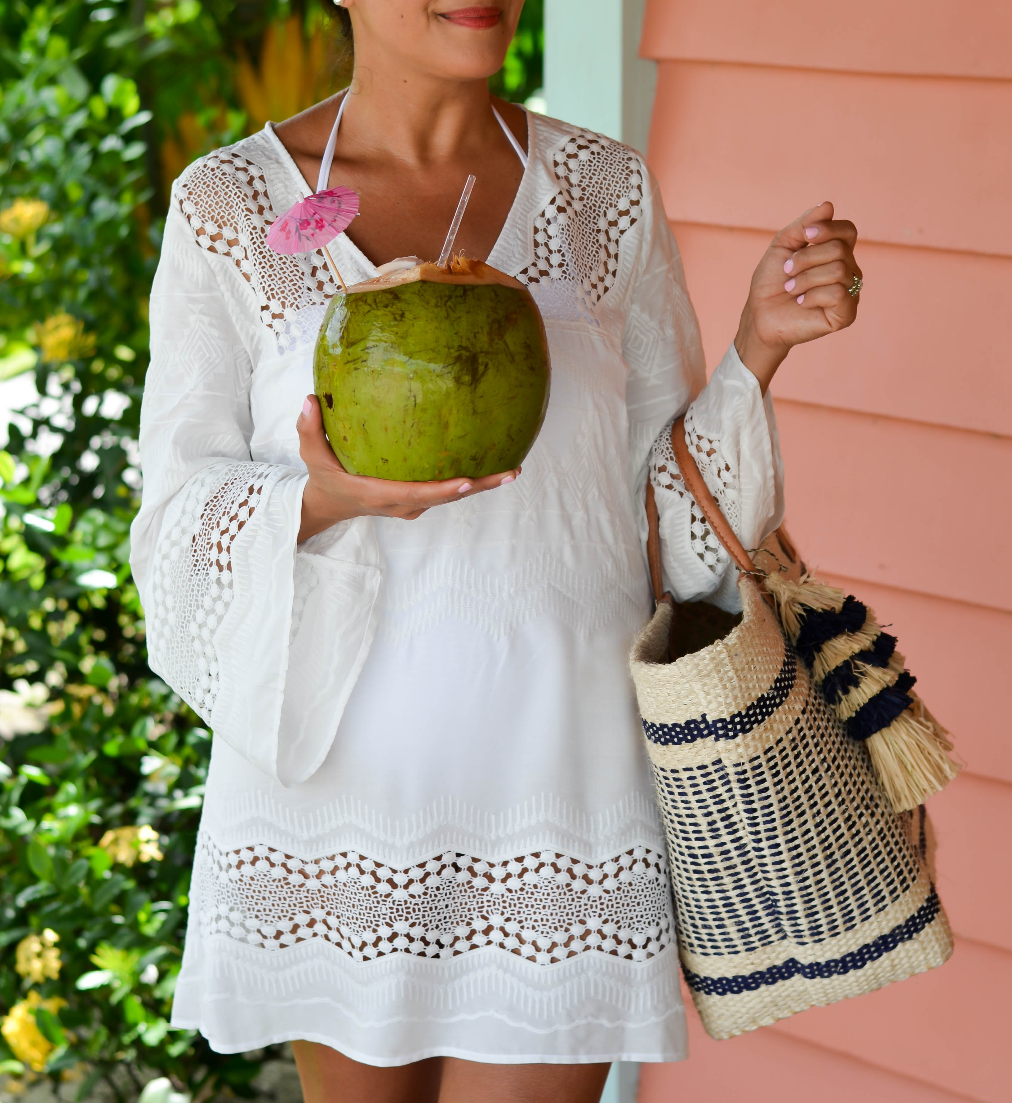 white tunic cover-up