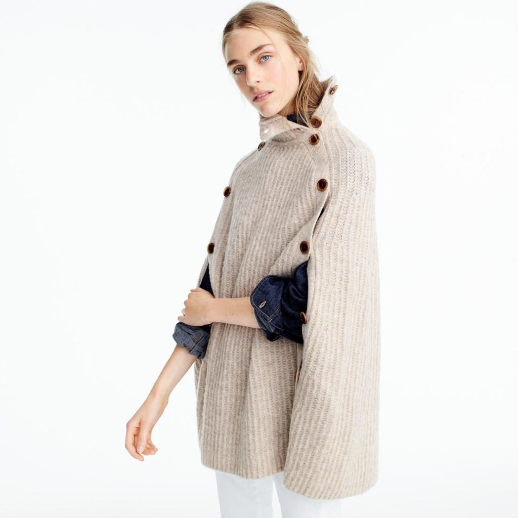J.Crew sweater cape