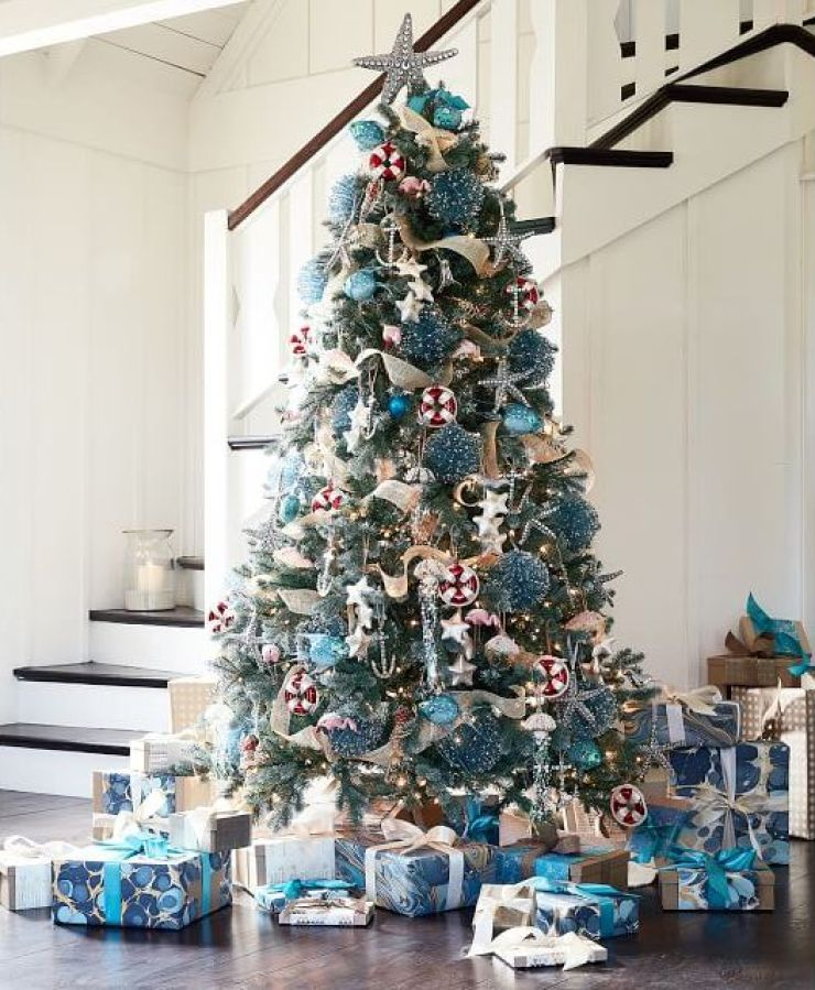 Pottery Barn Christmas Decorating Ideas Beautifully Seaside