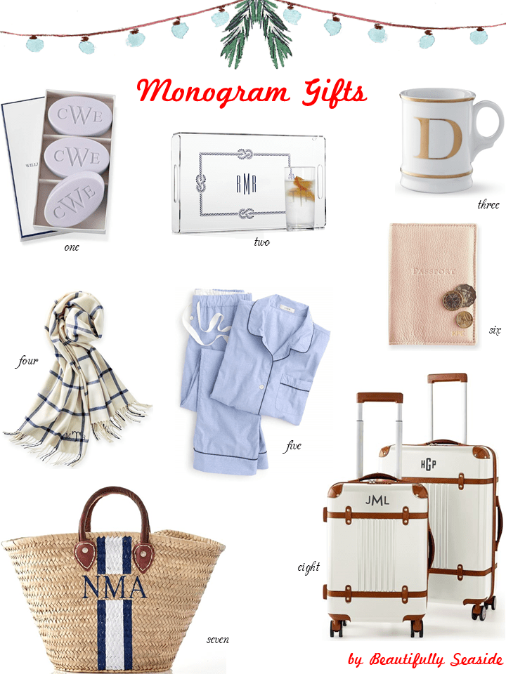 Holiday Gift Guide // Monogram Gifts