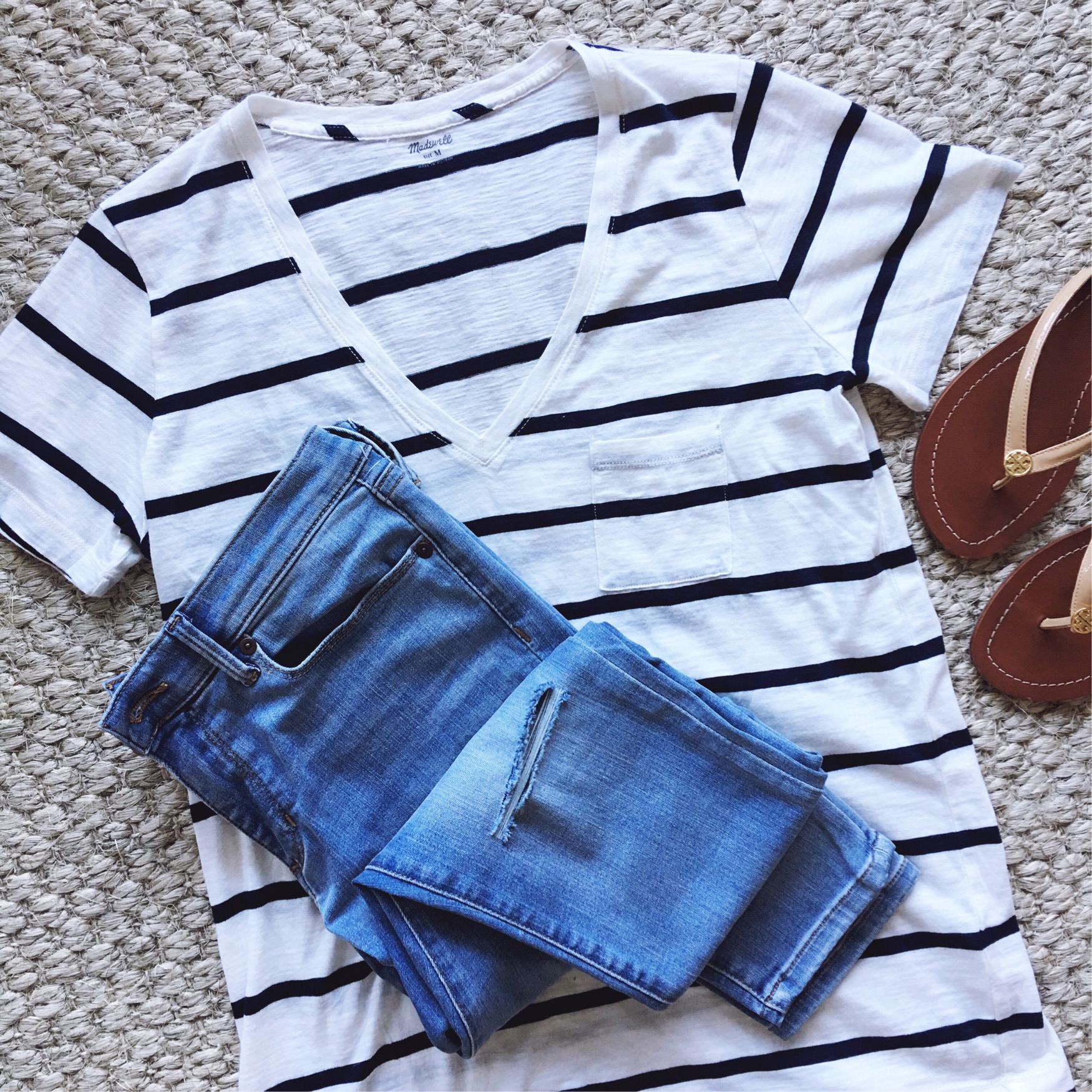 Madewell striped tee outfit