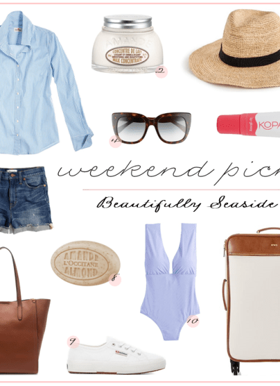 WEEKEND PICKS // WARM WEATHER GETAWAY