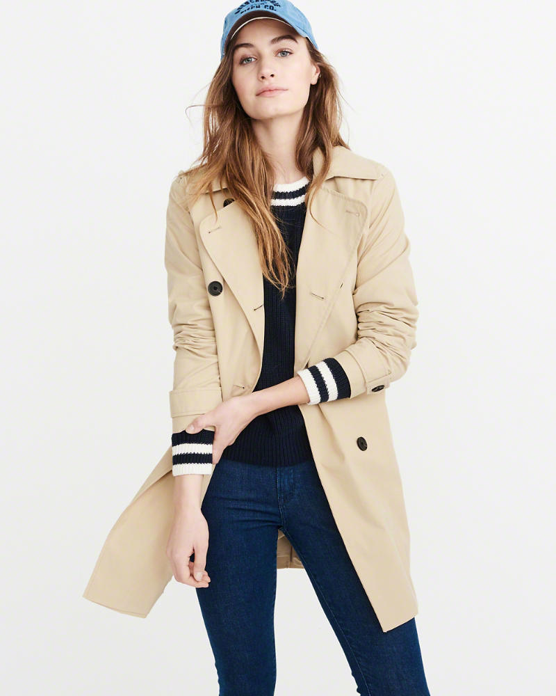 Classic spring trench coat