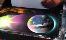 Amazing Spray Paint Street Artist
