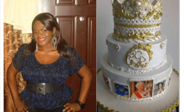 This Nigerian Lady Designed The Queen of England's 90th Birthday Cake!