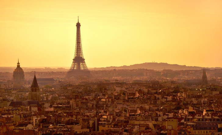 Paris sunset panorama
