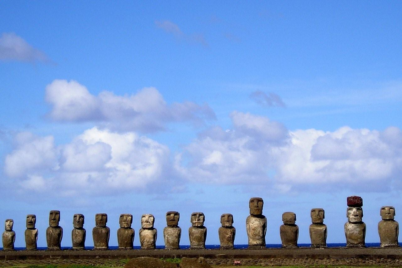Easter Island Stone Heads In Chile