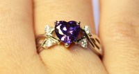 Amethyst (Purple) Heart Shaped Promise Ring - Beautiful ...