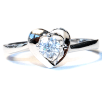 Diamond Heart Promise Ring - Beautiful Promise Rings