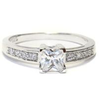 Princess Cut Diamond (White) Promise Ring - Beautiful ...