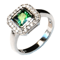 Princess Cut Emerald (Green) Promise Ring - Beautiful ...