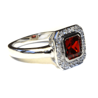 Princess Cut Ruby (Red) Promise Ring - Beautiful Promise Rings