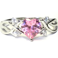 Pink Heart Shaped Promise Ring