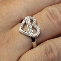 Diamond Heart Shaped Promise Ring - Beautiful Promise Rings