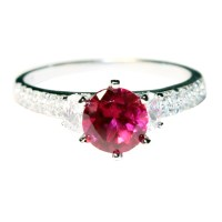 Solitaire Ruby Promise Ring - Red Cubic Zirconia ...