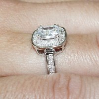 Diamond Halo Promise Ring - White Cubic Zirconia ...