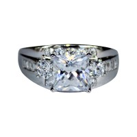 Chunky Diamond Promise Ring - White Cubic Zirconia ...