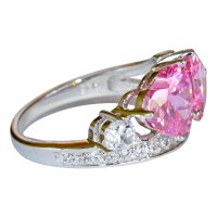 Double Pink Hearts Promise Ring