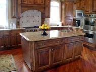 cool-kitchen-islands-ideas-laminate-flooring-wood-kitchen-cabinet-kitchen-kitchen-designs-fancy-elegant-neutral-cream-black-and-green-shade-kitchen-design-with-amazing-clean-marble-top