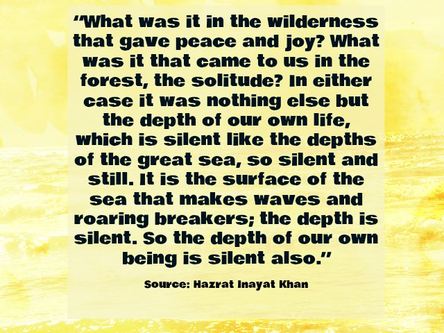 Inspirational Hazrat Inayat Khan, Quote about Silence