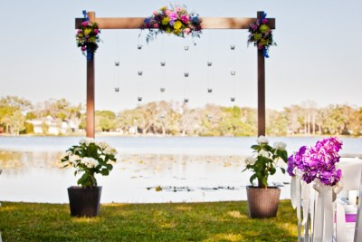 Best Tampa Wedding Florist - Northside Florist - Pink & Purple Wedding Ceremony Flowers