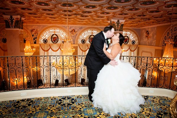Bride and Groom Wedding Portrait at Downtown Tampa Floridan Palace Hotel   Wedding Flowers by Northside Florist