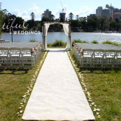 Burlap Chair Covers Aluminum Restaurant Chairs And Tables Aisle Runners & Markers - Beautiful Weddings