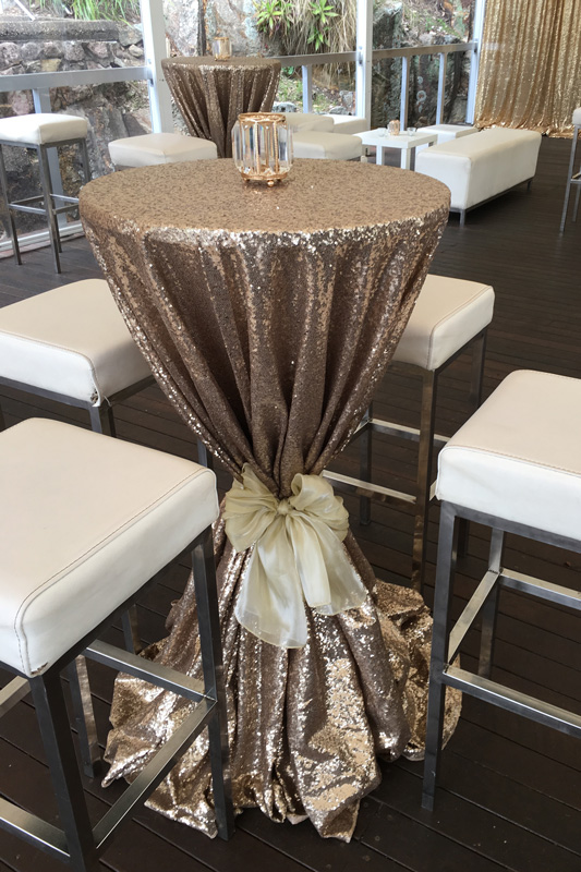 Gold Sequin Dry Bar Cover