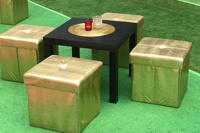 Gold Ottomans Chill Out Set