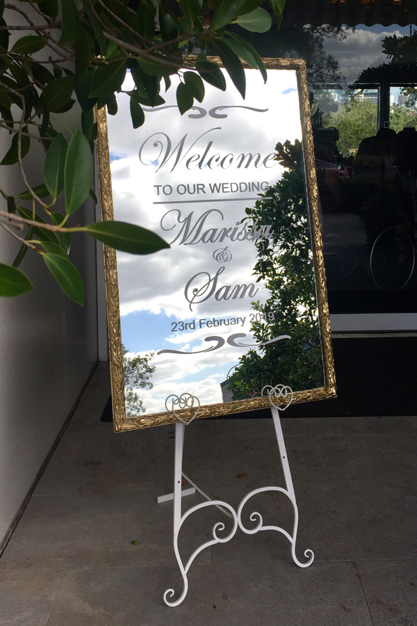 Gold Personalised Welcome Mirror